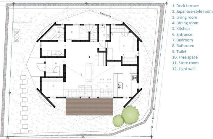 Holiday Origami - TSC Architects - Mie - Japan - Small House - Floor Plan - Humble Homes