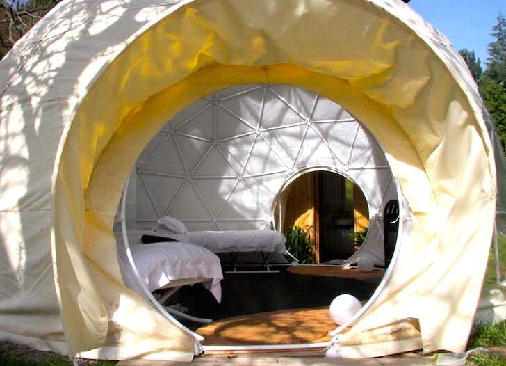The Garden Dome - Geodesic Dome - Forest of Dean - London - Entrance - Humble Homes