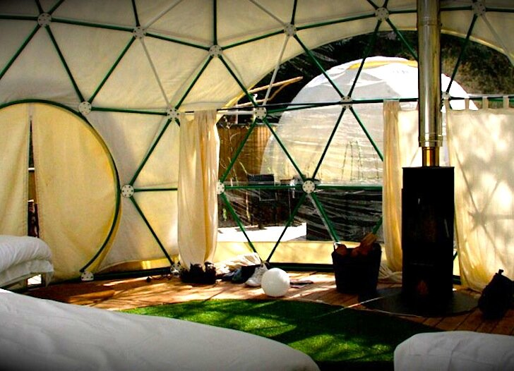 The Garden Dome - Geodesic Dome - Forest of Dean - London - Interior - Humble Homes