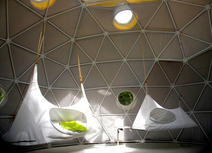 The Garden Dome - Geodesic Dome - Forest of Dean - London - Sleeping Quarters - Humble Homes