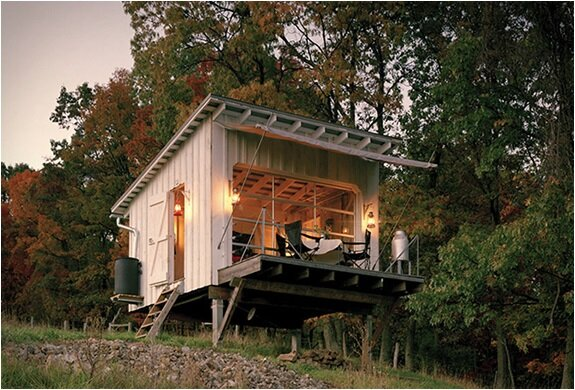 The Shack at Hinkle Farm - West Virginia - Weekend Retreat - Broadhurst Architects Inc - Exterior - Humble Homes