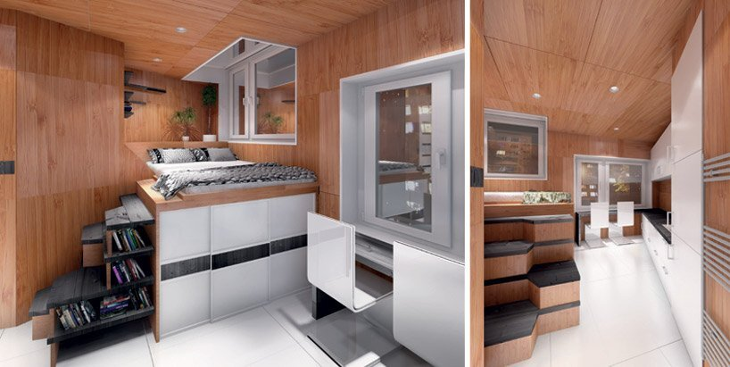 DesignDevelop - Gregory Project - Billboard Houses - Homeless Housing - Bedroom and Living Area - Humble Homes