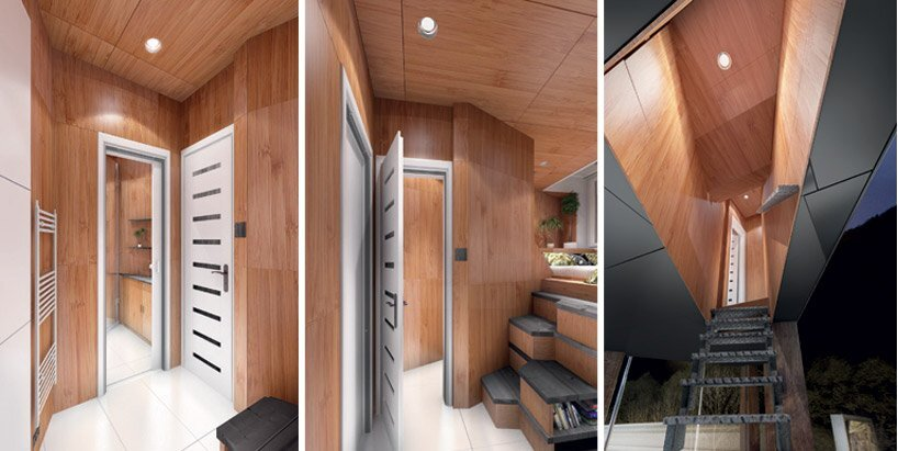 DesignDevelop - Gregory Project - Billboard Houses - Homeless Housing - Entrance - Humble Homes