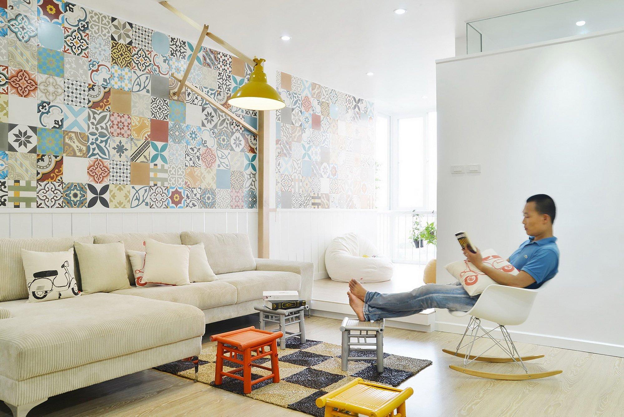 HT Apartment - Landmak Architect - Hanoi - Vietnam - Small Apartment - Living Room 2 - Humble Homes