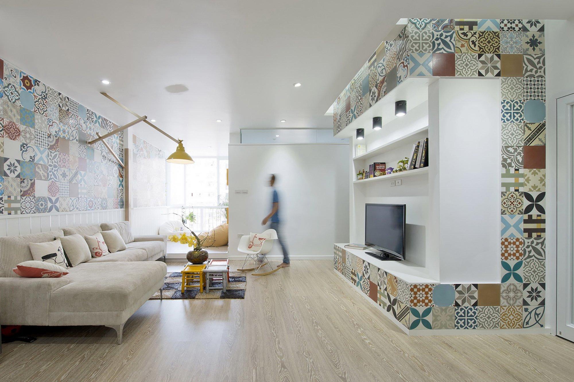 HT Apartment - Landmak Architect - Hanoi - Vietnam - Small Apartment - Living Room - Humble Homes