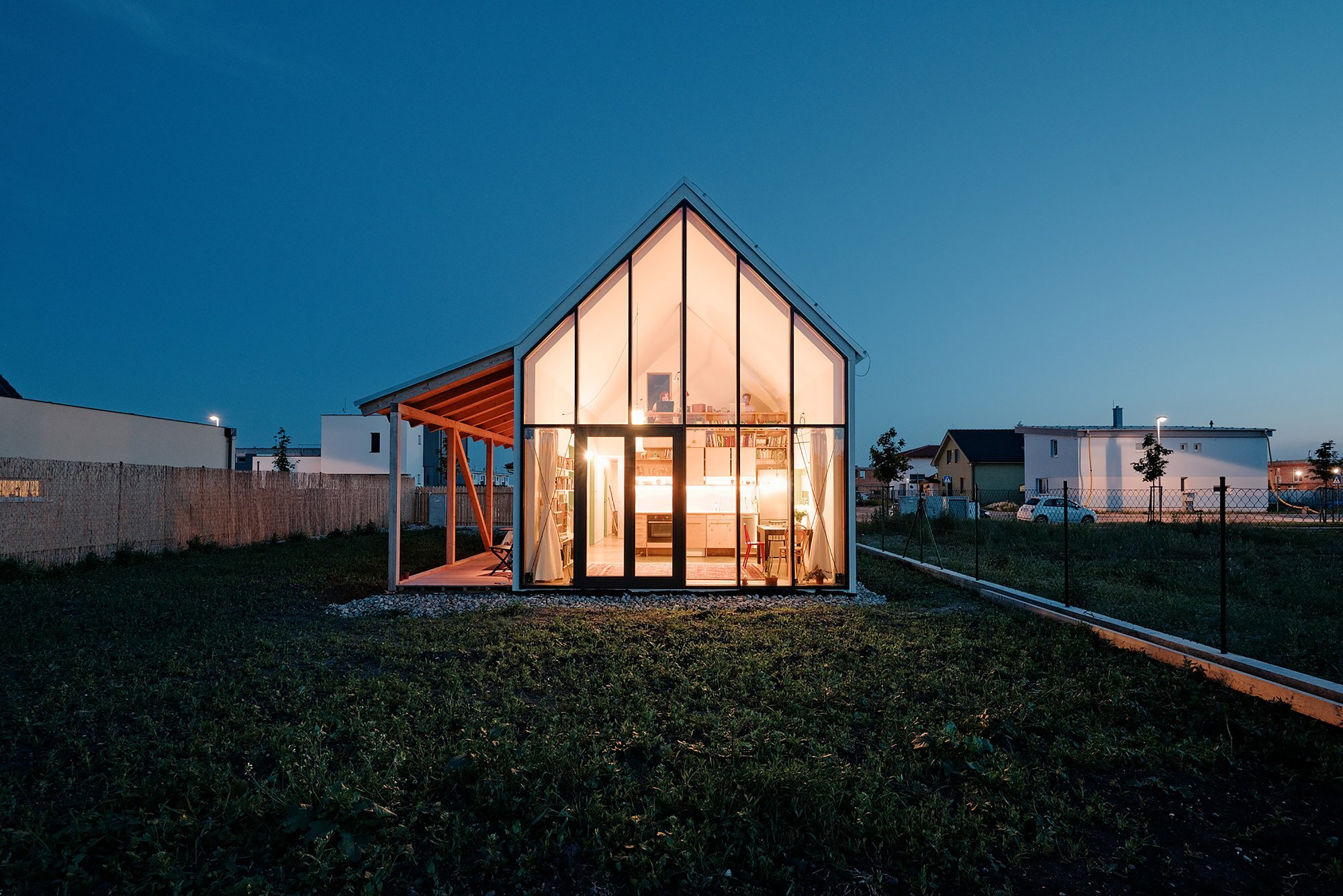 IST-Family House - JRKVC - Slovakia - Small House - Exterior Night - Humble Homes