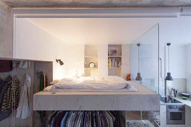 Karin Matz Renovates - HB6B Apartment - Stockholm Sweden - Tiny Apartment - Bedroom - Humble Homes