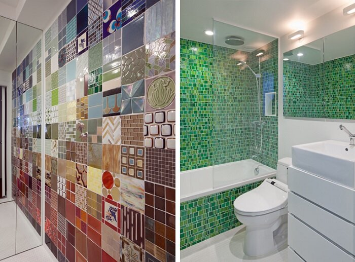 NYC Loft Studio - Tiny Apartment - Split Level - Renovation - Turett Collaborative Architects - Bathroom Tiles - Humble Homes