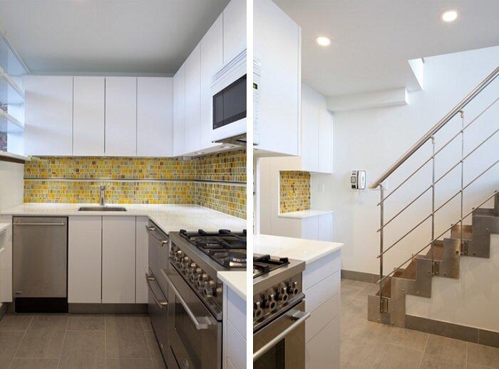 NYC Loft Studio - Tiny Apartment - Split Level - Renovation - Turett Collaborative Architects - Kitchen - Humble Homes