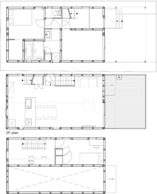 Pointed GEH House by I.R.A. - International Royal Architecture - Tokyo - Japan - Small House - Floor Plan - Humble Homes