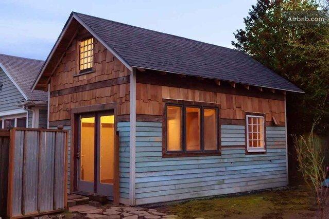 Rustic Tiny House - Portland -AirBnB - Exterior - Humble Homes