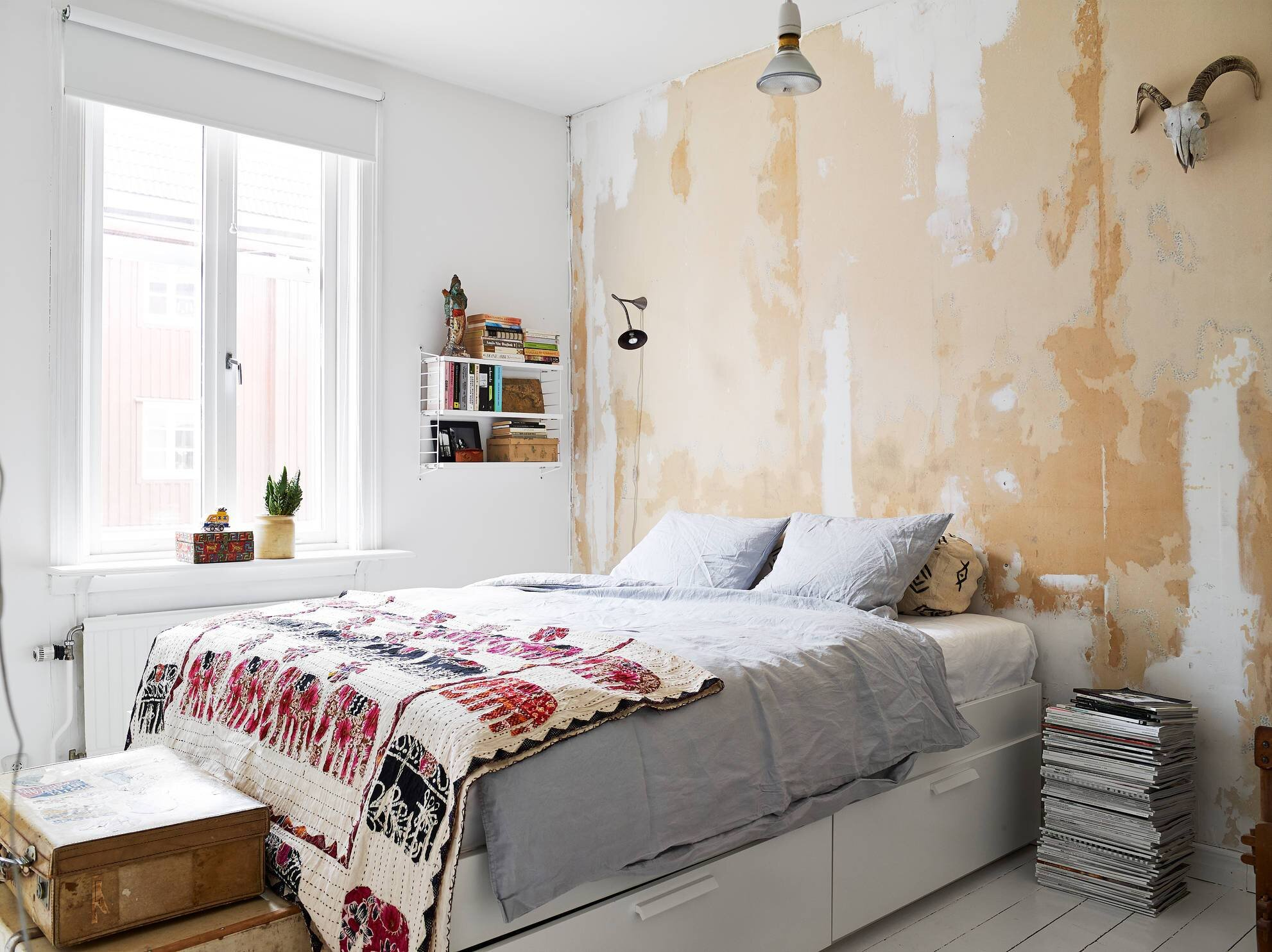 Small Apartment - Goteburg - Sweden - Stadhem - Bedroom - Humble Homes