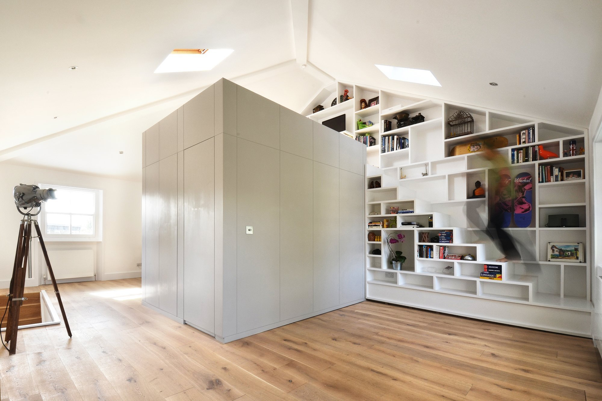 Loft Space - Craft Design - London - Camden - Tiny Apartment - Staircase - Humble Homes