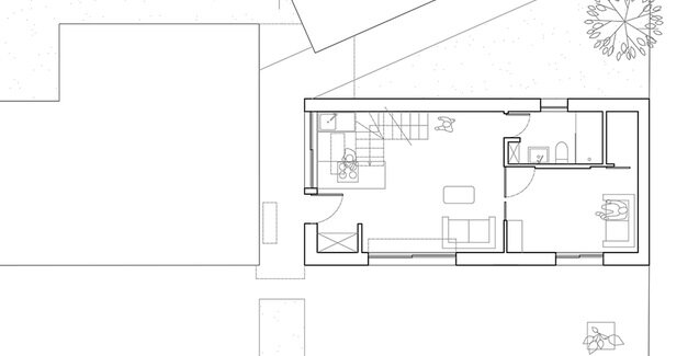 The House Between - Clément Bacle Architect - France - Rennes - Floor Plan - Humble Homes
