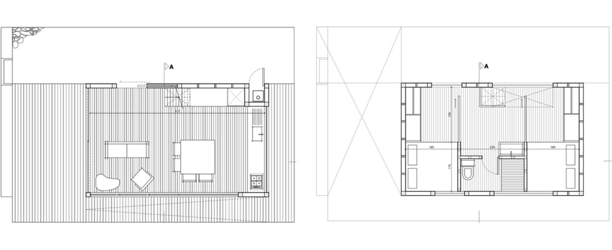 2 Hermanos Cabin - Small Cabin - WMR Arquitectos - Chile - Floor Plan - Humble Homes