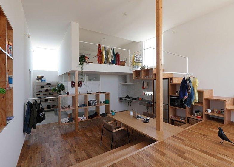Higashihayashiguchi - Shop & Apartment - ALTS Design Office - Living Area - Humble Homes