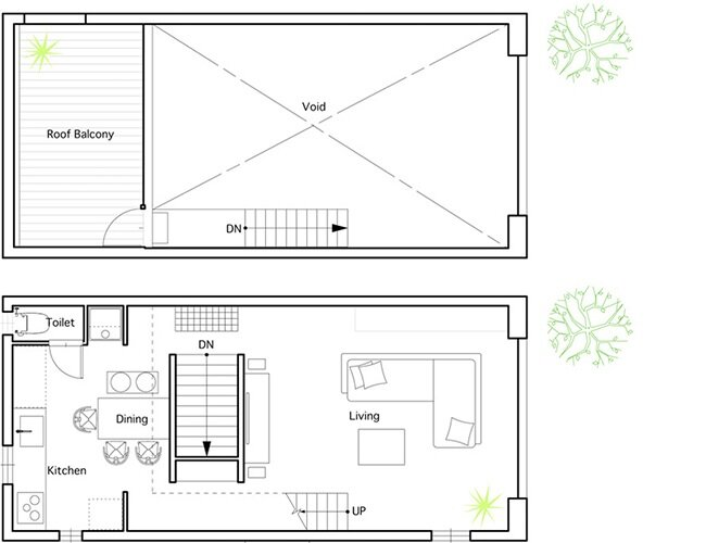 Hiyoshi House - Japanese House - EANA - Japan - Floor Plans - Humble Homes