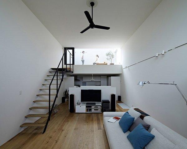 Hiyoshi House - Japanese House - EANA - Japan - Living Room - Humble Homes