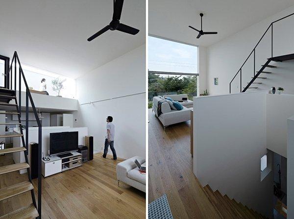 Hiyoshi House - Japanese House - EANA - Japan - Staircases - Humble Homes