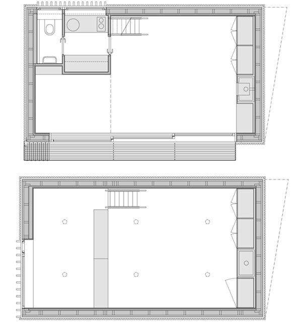 Lake Cabin - FAM Architekti - Czech Republic - Floor Plan - Humble Homes