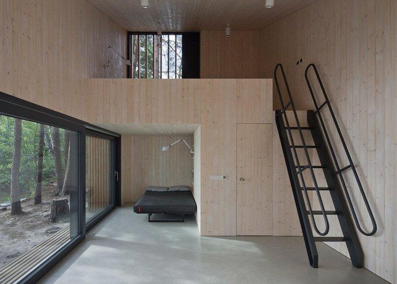 Lake Cabin - FAM Architekti - Czech Republic - Living Area - Humble Homes