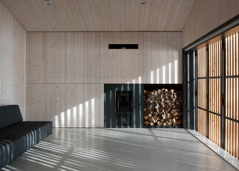 Lake Cabin - FAM Architekti - Czech Republic - Stove - Humble Homes