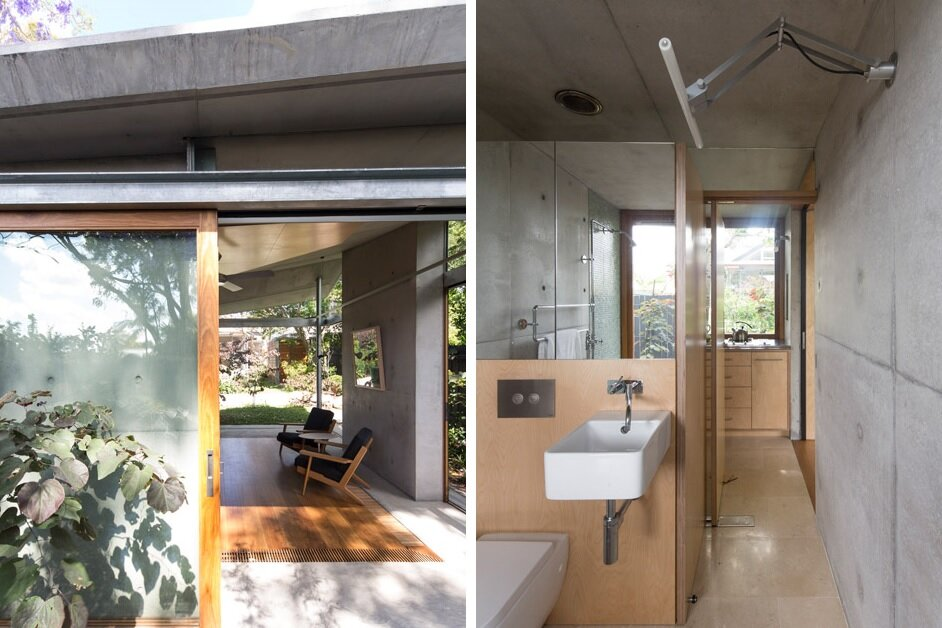 Small House - Welsh + Major - Sydney - Entrance and Bathrom - Humble Homes