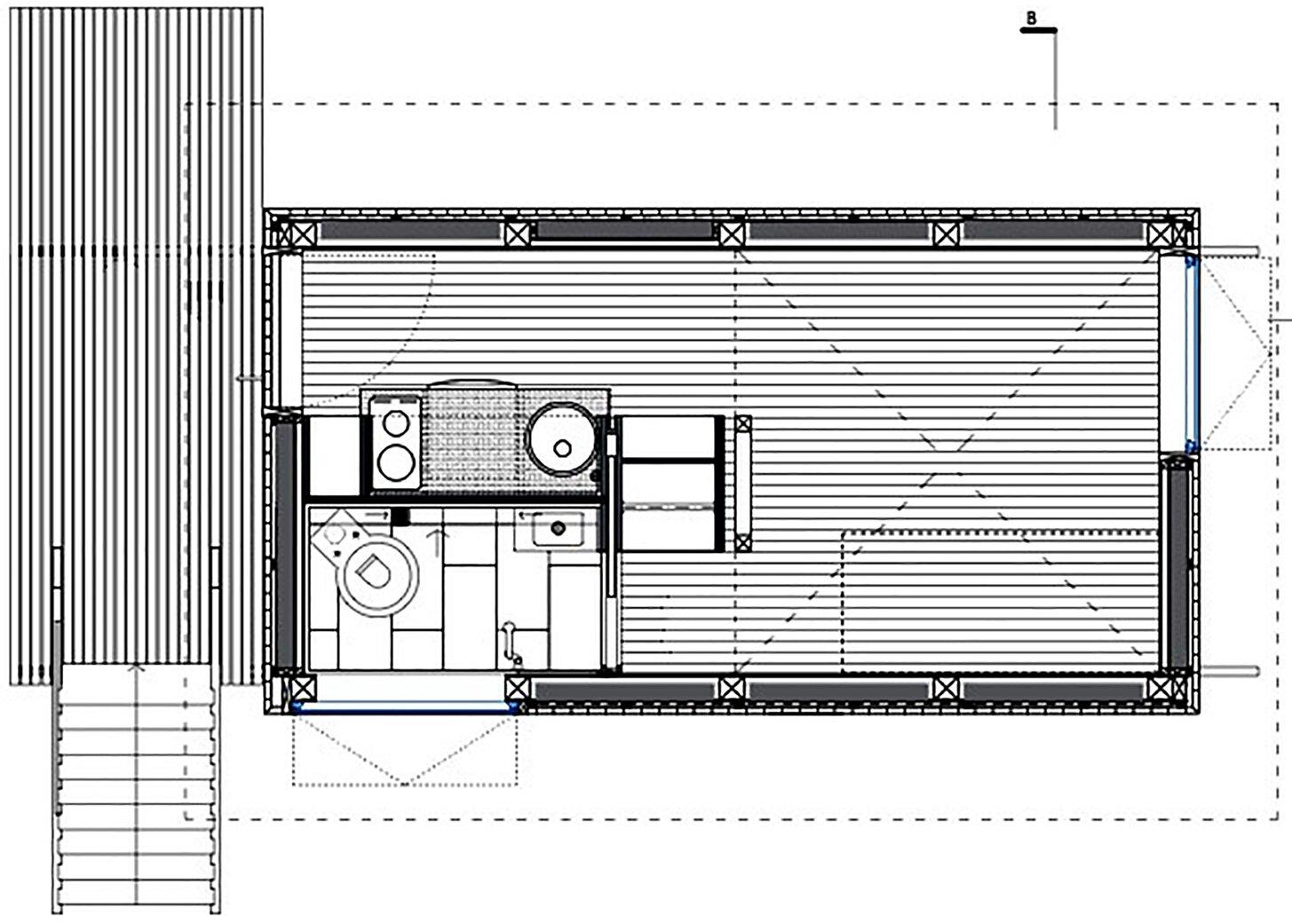 Charred Cabin - Nicolas del Rio - Chile - Floor Plan - Humble Homes