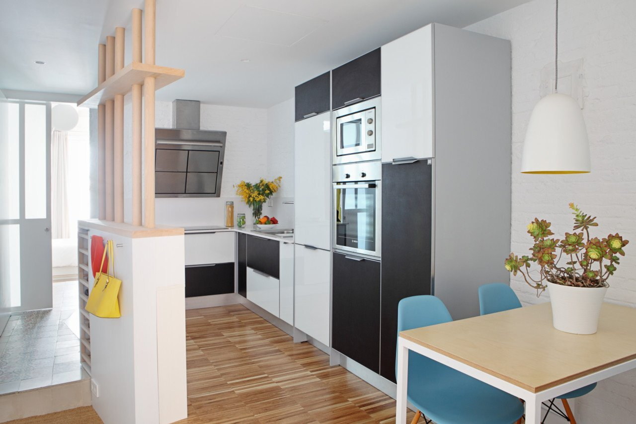 Micro Apartment - Miel Arquitectos and Studio P10 - Barcelona - Kitchen - Humble Homes
