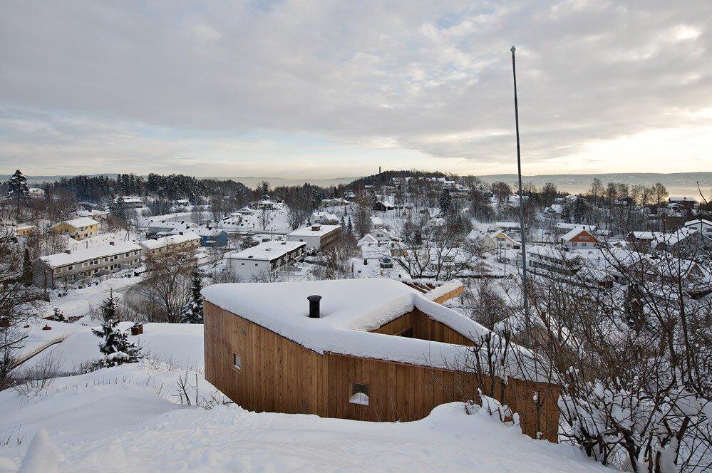 Writers Cabin - Jarmund Vigsnæs Arkitekter - Asker Norway - Above - Humble Homes