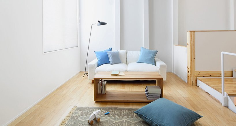 House of Vertical - Japanese House - Muji - Tokyo - Living room - Humble Homes