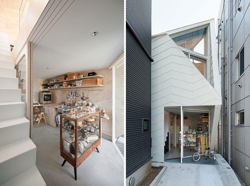 Bud House - Japanese House - Flat House - Tokyo - Shop & Entrance - Humble Homes