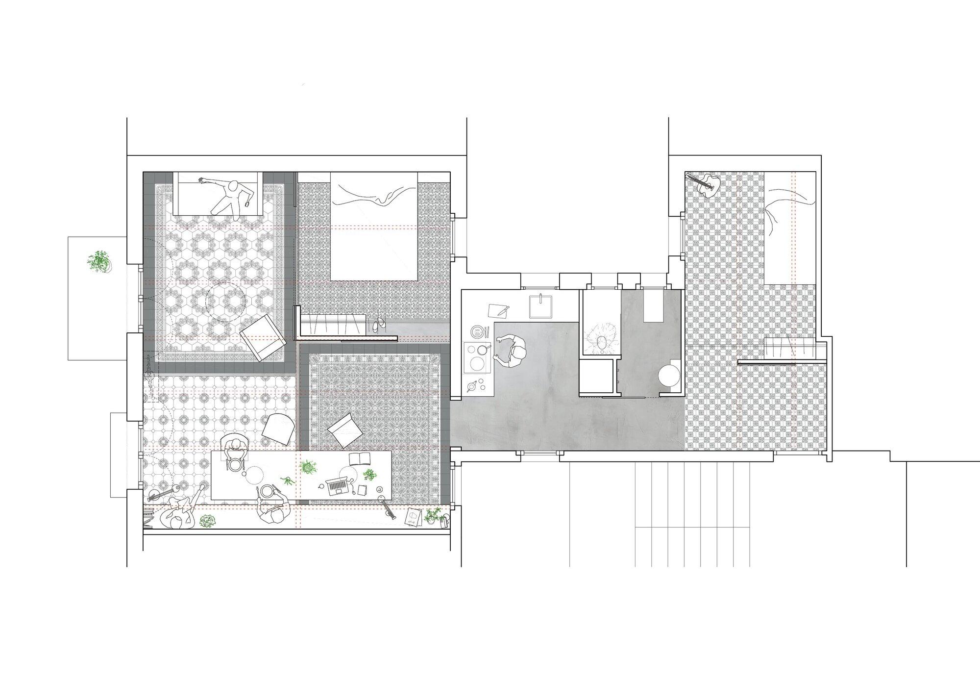 Eixample Apartment Renovation - Barcelona - Floor Plans - Humble Homes