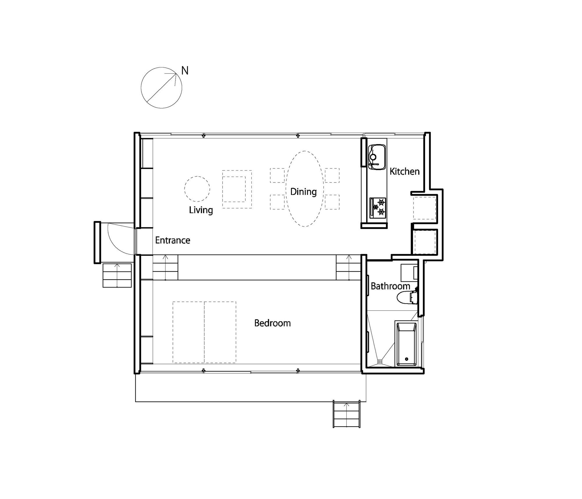 Gui House - Japanese House - Harunatsu-Arch - Shimane Japan - Floor Plan - Humble Homes