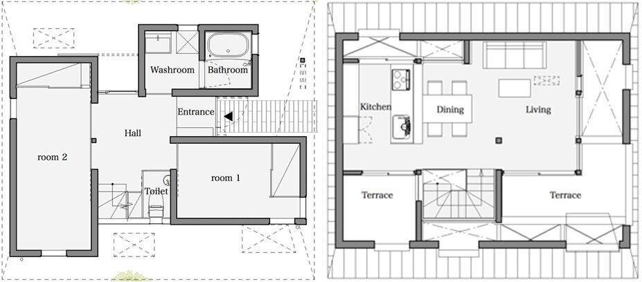 japanese house floor plans houseaa in nara city features a roof designed for privacy 4900