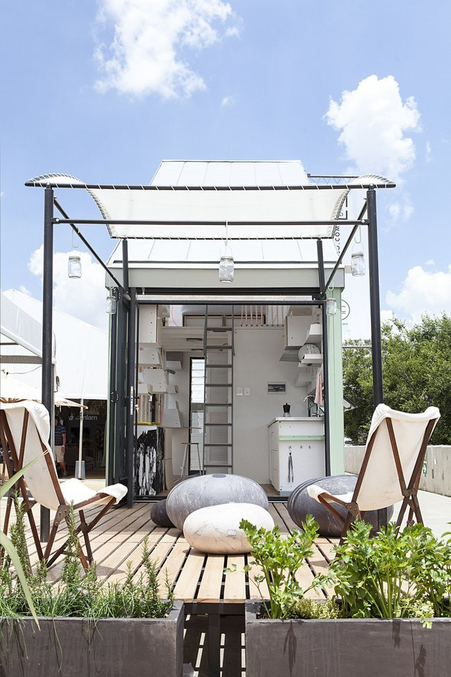 Tiny House - INDAWO - lifePOD - Collaborate000 - South Africa - Back Porch - Humble Homes