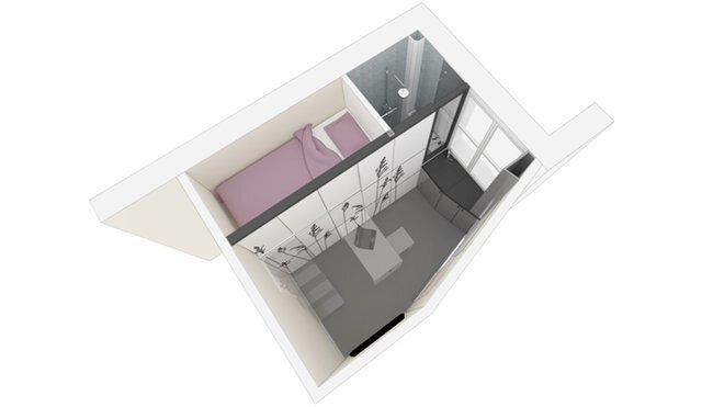 Kitoko Studio - Tiny Apartment - Paris - Layout - Humble Homes
