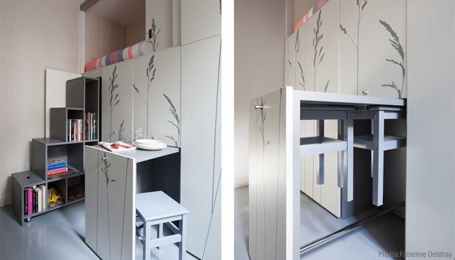 Kitoko Studio - Tiny Apartment - Paris - Pull-Out Furniture - Humble Homes