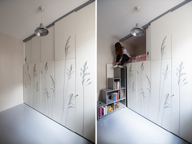 Kitoko Studio - Tiny Apartment - Paris - Storage - Humble Homes