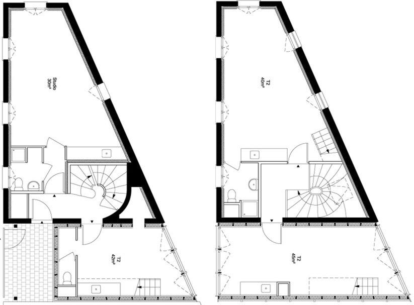 Small Apartments - Atelier Ramdam - France - Au Bon Coin - Floor Plan - Humble Homes