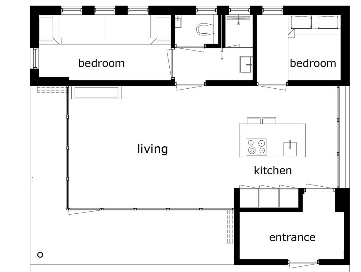 Small Holiday Home - Bloem and Lemstra Architects - The Netherlands - Floor Plan - Humble Homes
