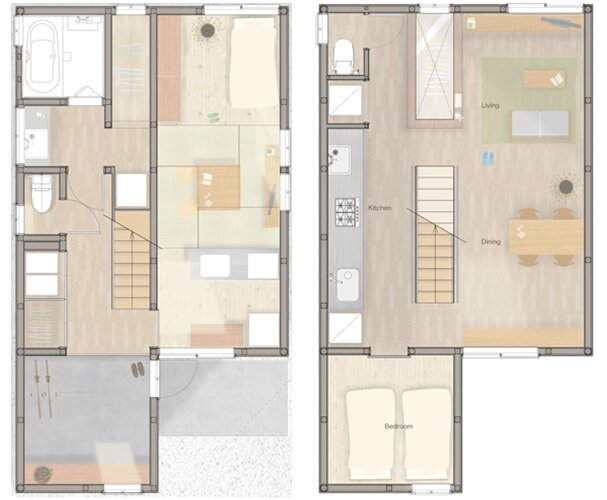 Multi-Generational House - SNARK - OUVI - Tourimachi - Floor Plans - Humble Homes