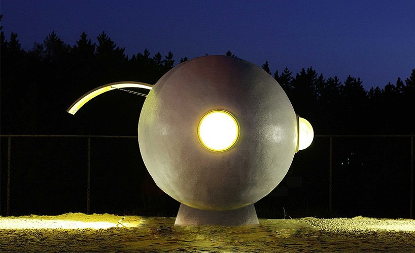Outdoor Living Capsules - Yoon Space & Song Pyoung Albang - Korea - Capsule at Night - Humble Homes