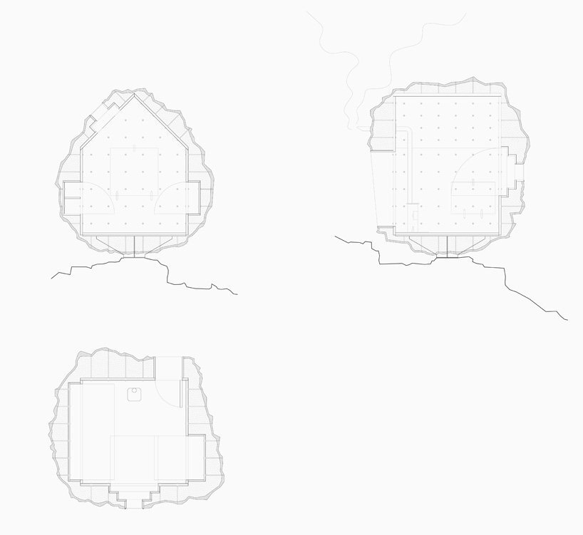 Stone-Shaped wooden cabin - bureau A - Swiss Alps - Plans - Humble Homes