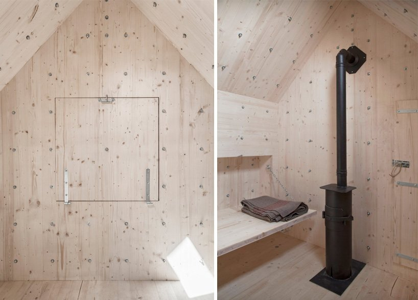 Stone-Shaped wooden cabin - bureau A - Swiss Alps - Stove - Humble Homes
