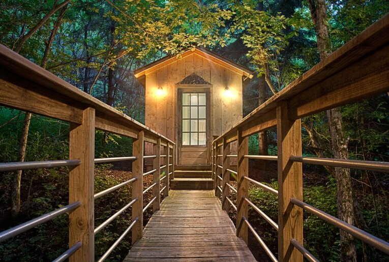 Tiny Cabin - The Glass Cabin - Candlewood - Bathroom- Humble Homes