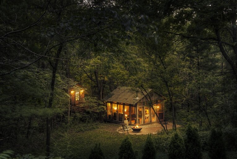 Tiny Cabin - The Glass Cabin - Candlewood - Exterior - Humble Homes
