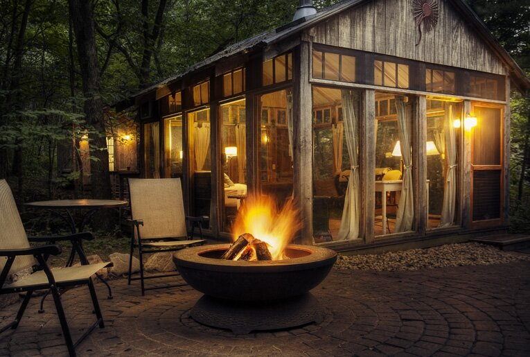 Tiny Cabin - The Glass Cabin - Candlewood - Fire Pit - Humble Homes
