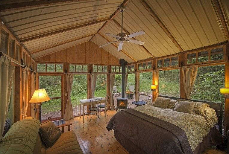 Tiny Cabin - The Glass Cabin - Candlewood - Interior - Humble Homes