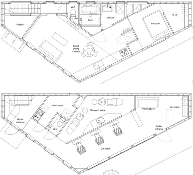 House in Shintou - Japanese House - SNARK + OUVI - Floor Plan - Humble Homes